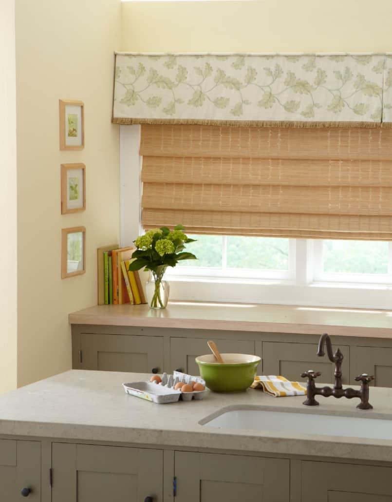 Horizons Fabric Valance Brush Fringe Kitchen