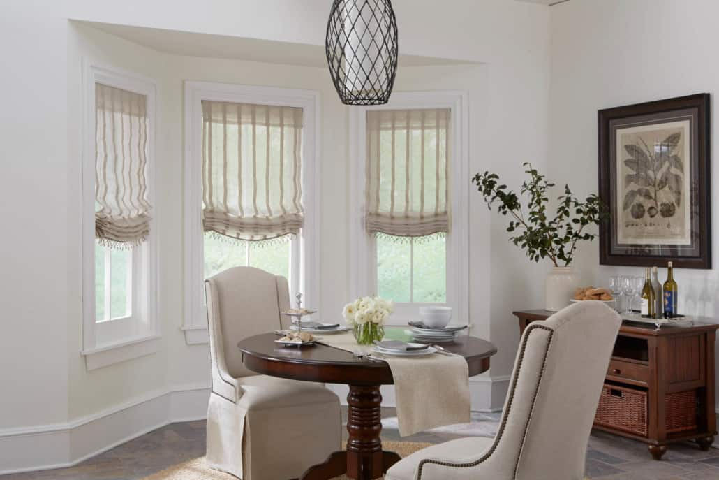 Horizons Relaxed Roman Shade Unlined Dining Room