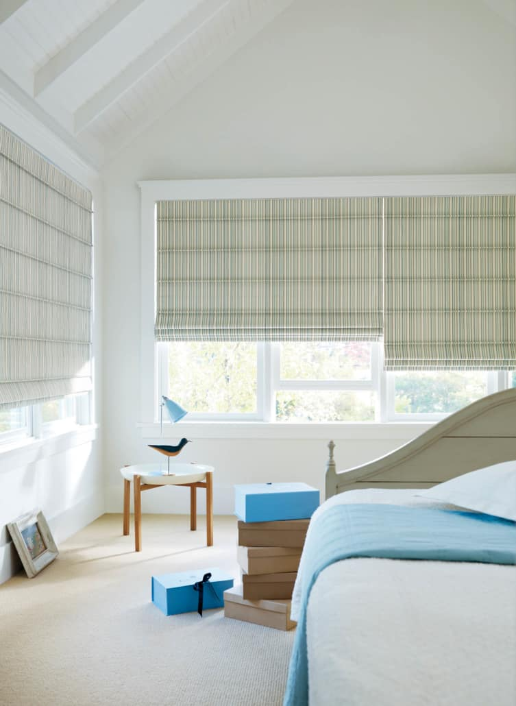 hunter douglas roman shades for the bedroom