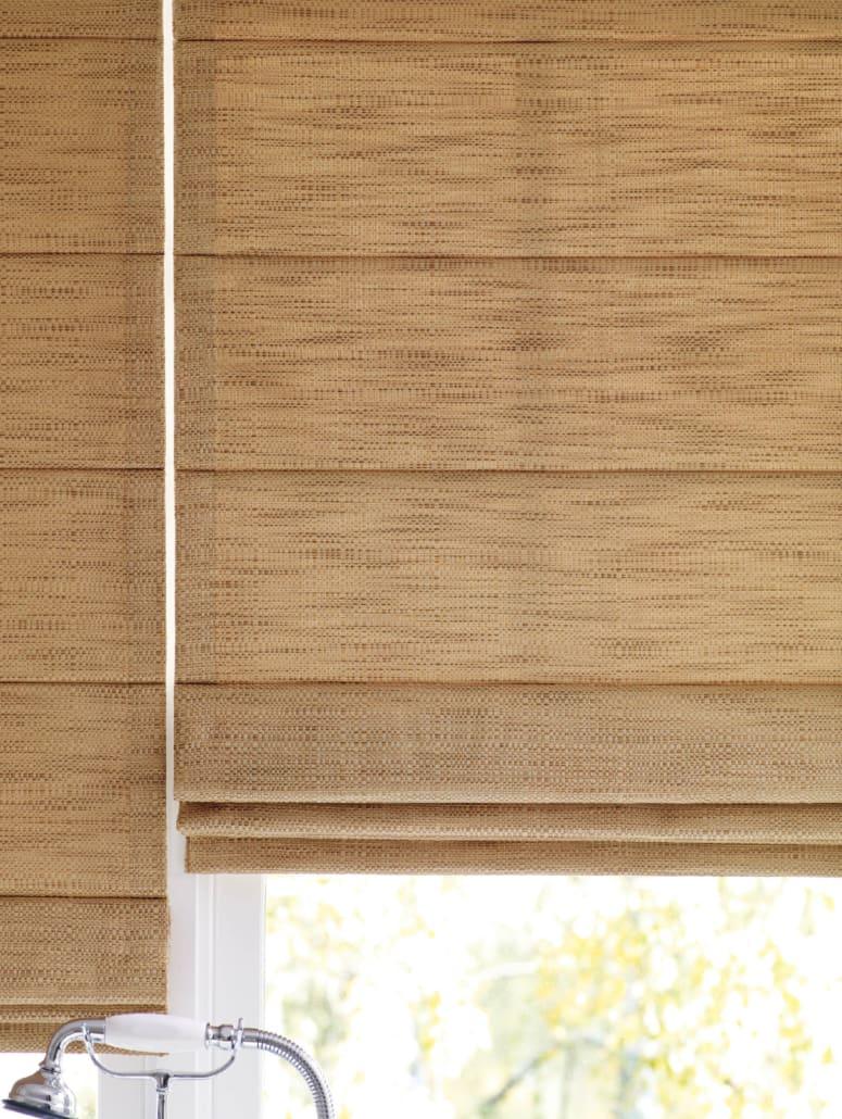 Hunter Douglas Design Studio Fabric Roman Shades Batten Back