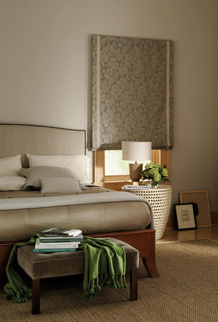 Hunter Douglas Design Studio Flat Roman Shade Bedroom