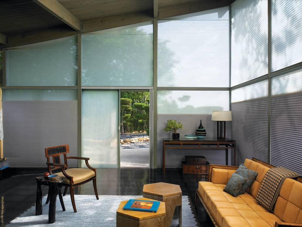 Hunter Douglas Duette Architella Classic Whisper Sheer Duolite Living Room