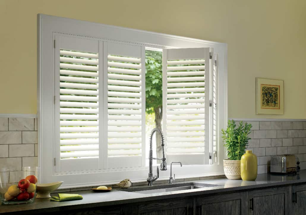 Hunter Douglas Palm Beach Polysatin Shutters Hidden Tilt Kitchen