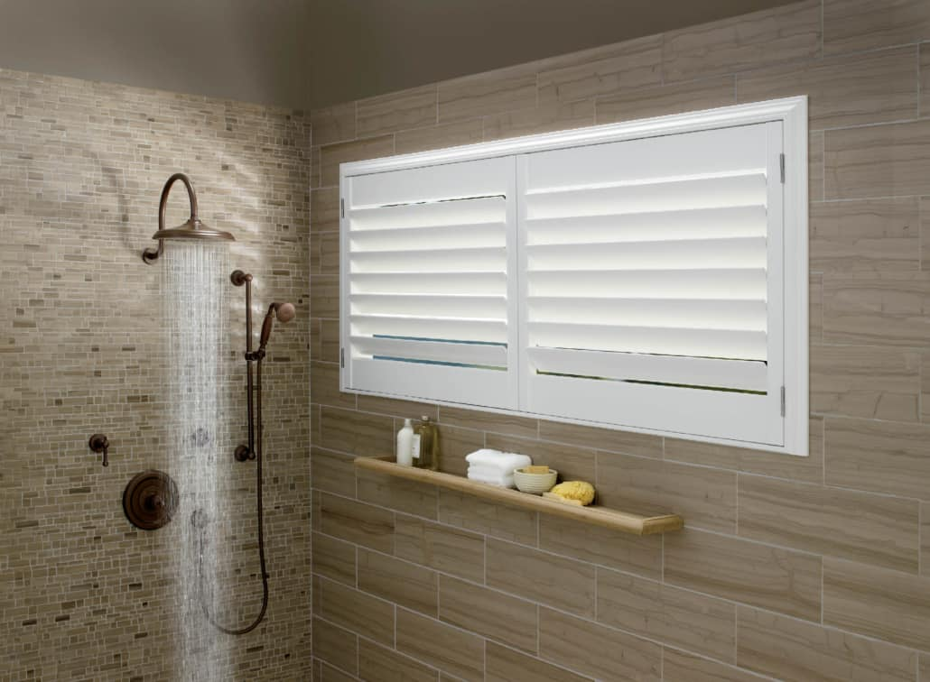 Hunter Douglas Palm Beach Shutters Shower