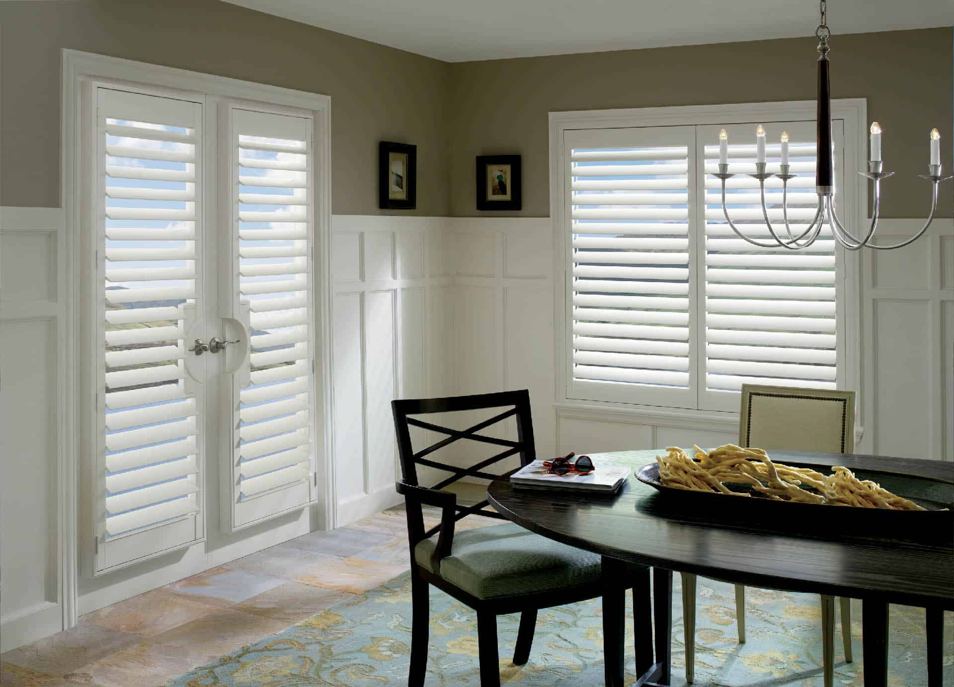 Hunter Douglas Palm Beach Shutters Truview Dining Room
