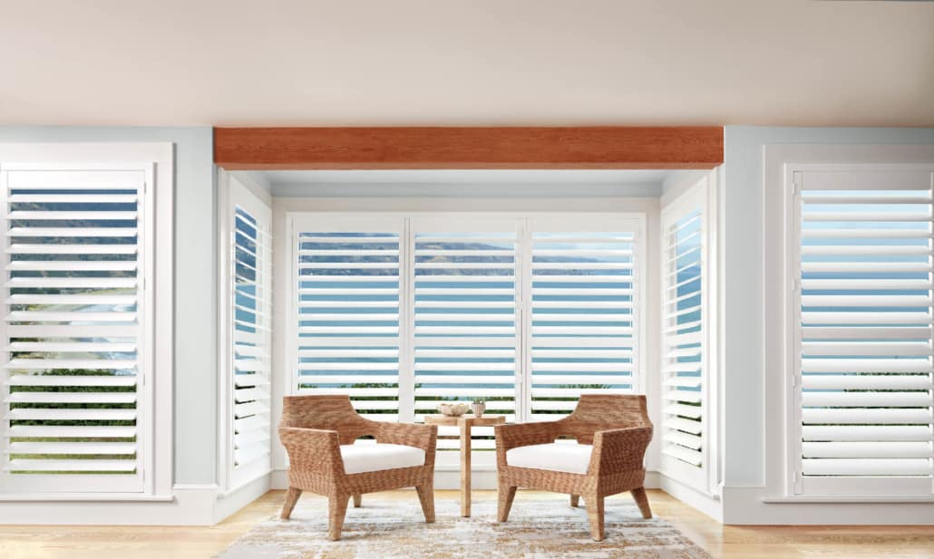 Hunter Douglas Palm Beach Standard Panels Living Room