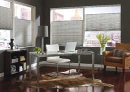Hunter Douglas Pleated Shades EasyRise Herringbone Office