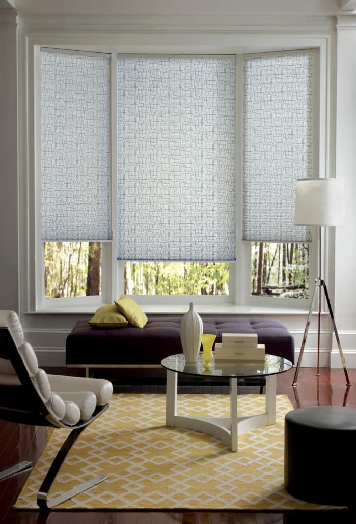 Hunter Douglas Pleated Shades EasyRise Vertex Living Room