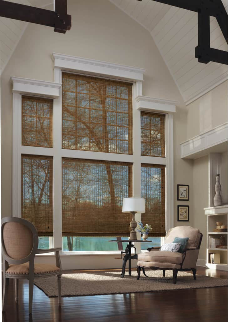 Hunter Douglas Provenance Woven Wood Shades Living Room
