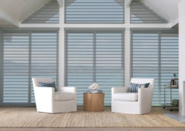 Hunter Douglas Silhouette Matisse Sheer Shadings Specialty Shape Angle Living Room