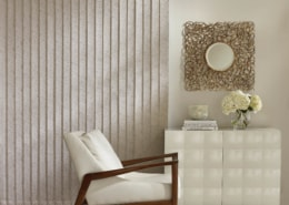 Hunter Douglas Somner Vertical Blinds PermaTilt Easton Living Room