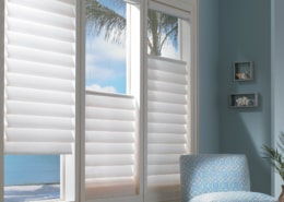 Hunter Douglas Vignette EasyRise Top Down Bottom Up Roman Shades Living Room