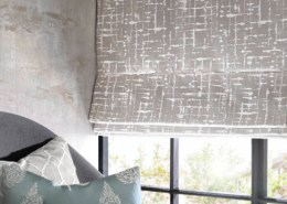 JF Fabics Ashley Wilde Designs Lamont Fabric Collection Roman Shade