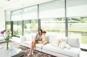 Motorized window coverings - Motors for interior shades or blinds are easy to operate and work smoothly to keep your window coverings beautiful and functioning longer.