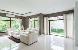 Motorized window coverings, when timed with the time of day, they can protect furniture, photos, and art from sun damage.