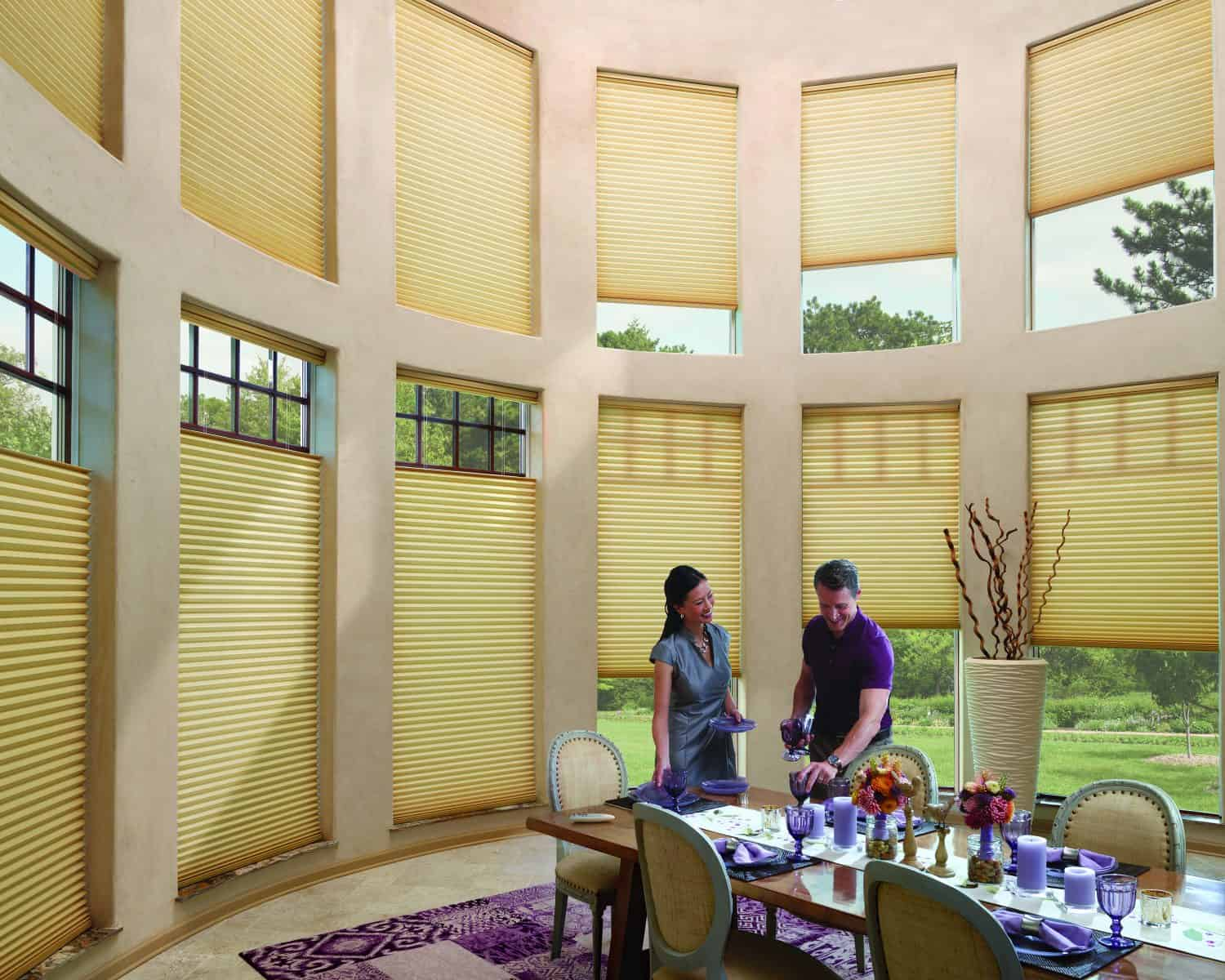 Current and web saver specials ruffell brown window for Hunter douglas motorized blinds cost