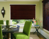 You can cover large windows with wood blinds.