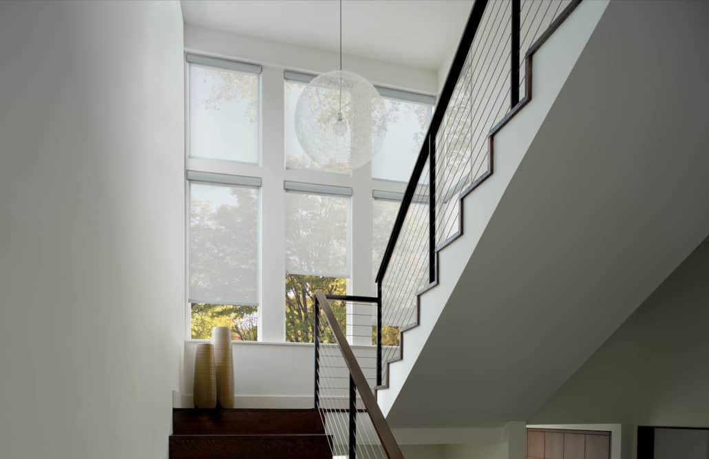 Hunter Douglas Designer Screen Roller Shades PowerView Stairwell