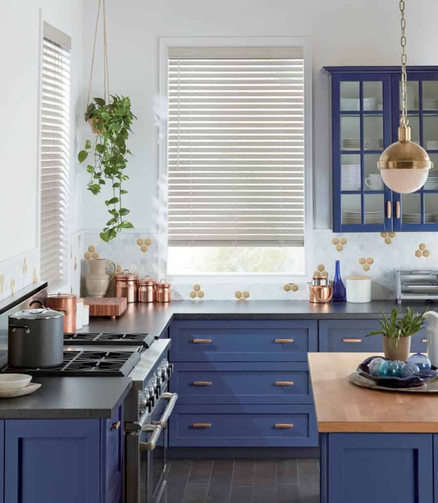 Hunter Douglas Everwood Faux Composite Alternative Wood Blind Kitchen