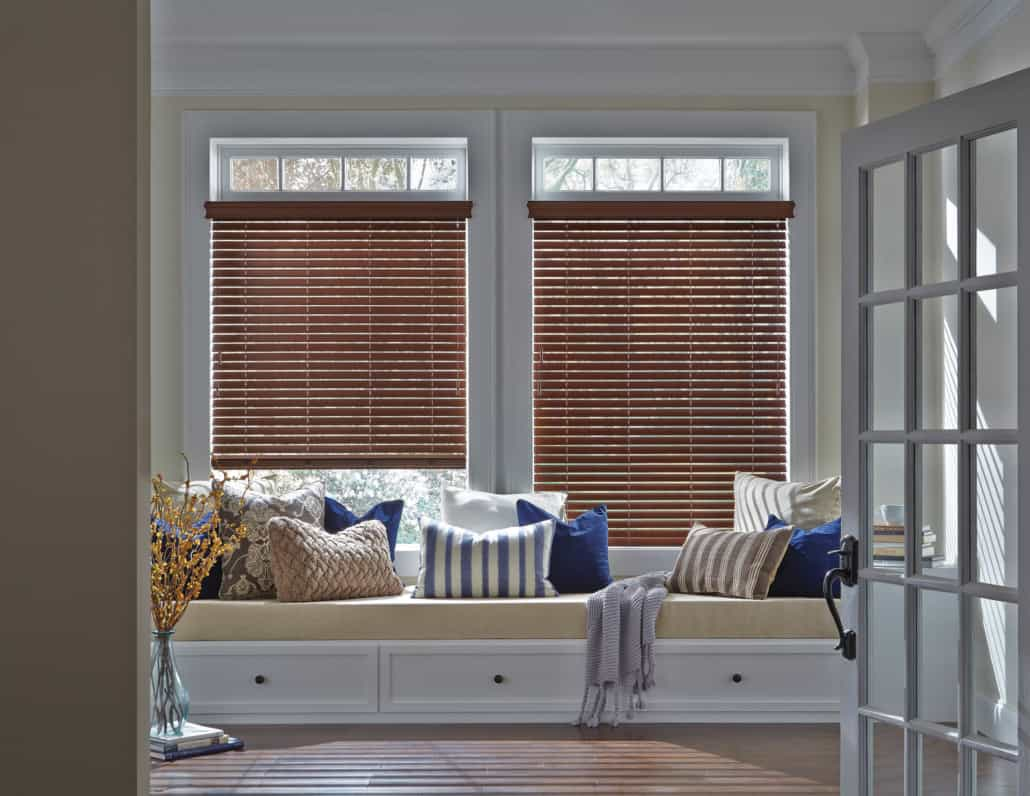 Hunter Douglas Everwood Faux Composite Alternative Wood Blinds Window Seat