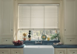 Hunter Douglas First Edition Faux Alternate Composite Wood Blink Kitchen
