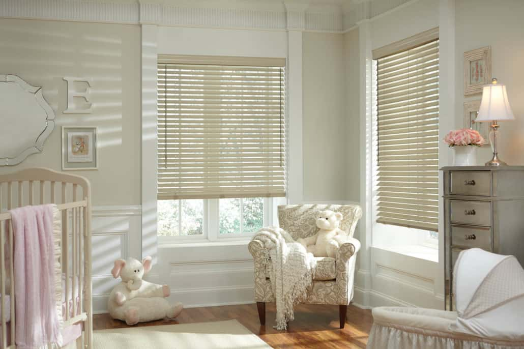 Hunter Douglas Parkland Wood Blinds UltraGlide Basswood Nursery