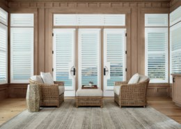 Hunter Douglas Palm Beach French Door Living Room