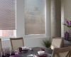 Hunter Douglas Decor aluminum blinds can be mounted inside the window frames.