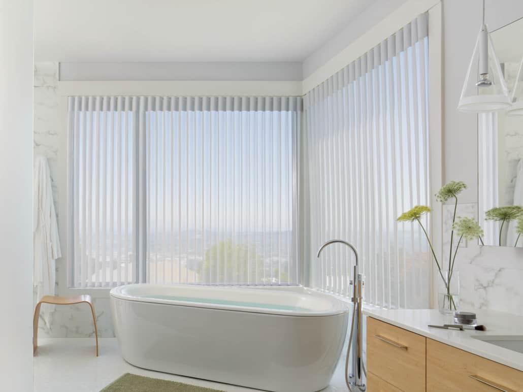 Hunter Douglas Luminette Privacy Sheers Bathroom