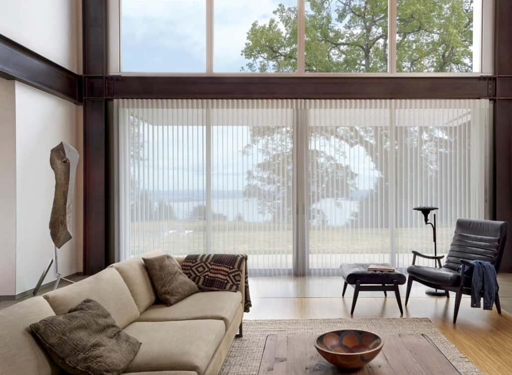 Hunter Douglas Luminette Solar Screen Privacy Sheers Living Room