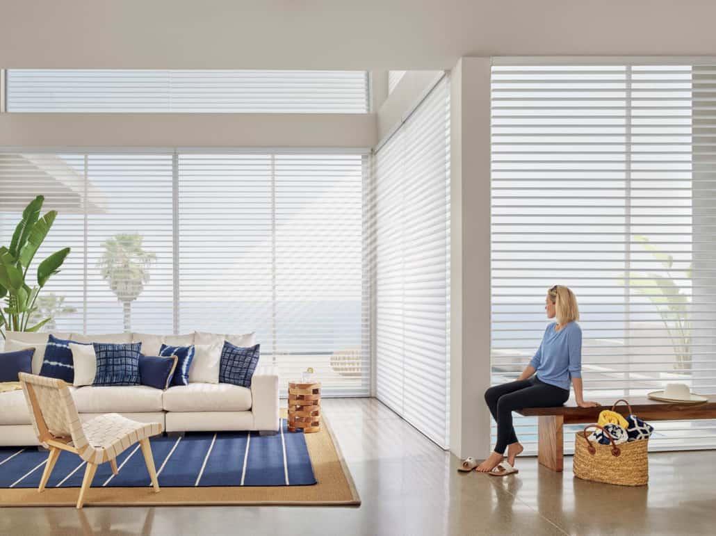 Hunter Douglas Nantucket Brant Point Sheer Shadings Living Room