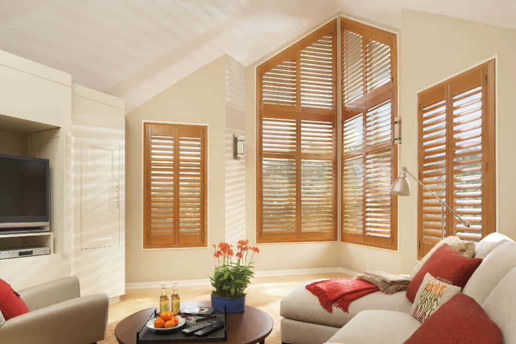Hunter Douglas NewStyle Hybrid Shutters Angle Living Room