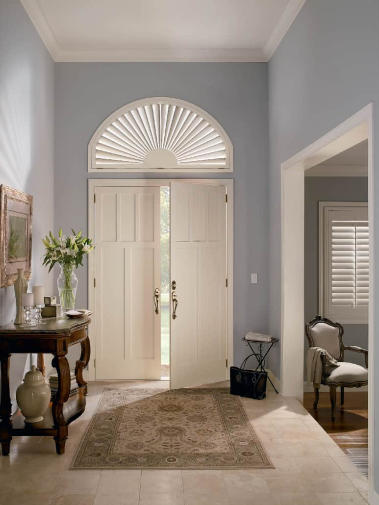 Hunter Douglas NewStyle Hybrid Shutters Specialty Arch