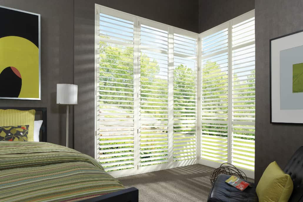 Hunter Douglas NewStyle Hybrid Shutters TruView Bedroom