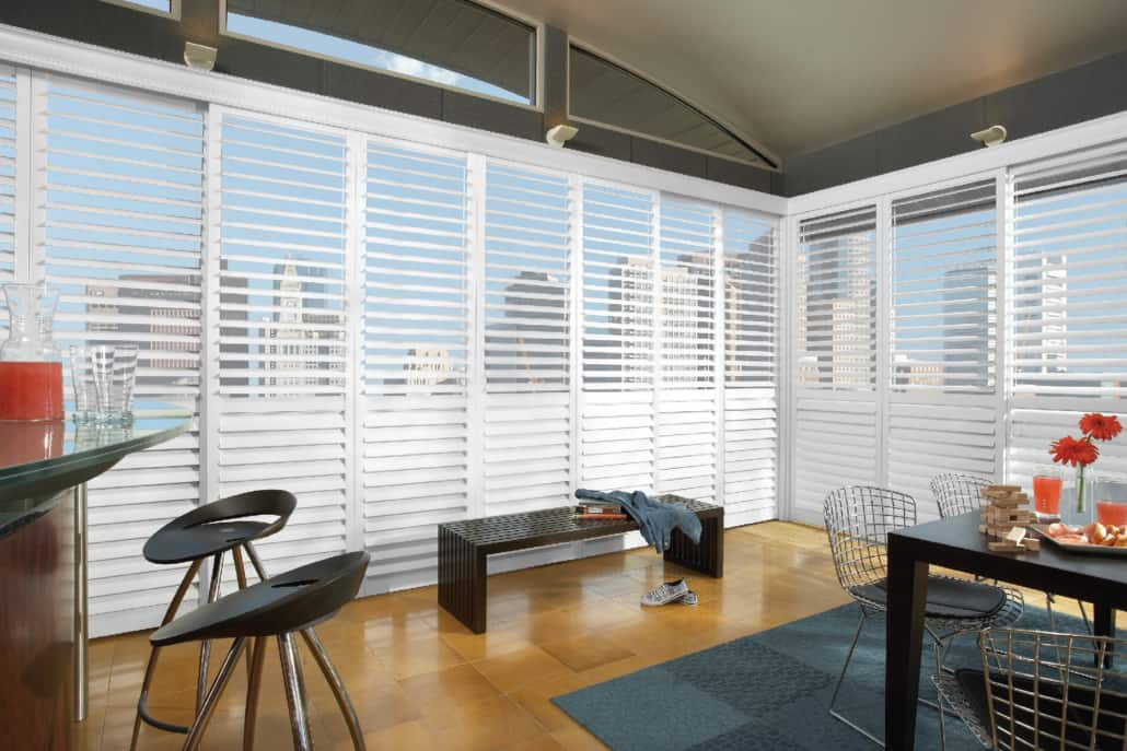 Hunter Douglas NewStyle Hybrid Shutters TruView Dining Room1