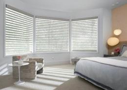Hunter Douglas Pirouette India Silk Temple Sheer Shadings Bedroom