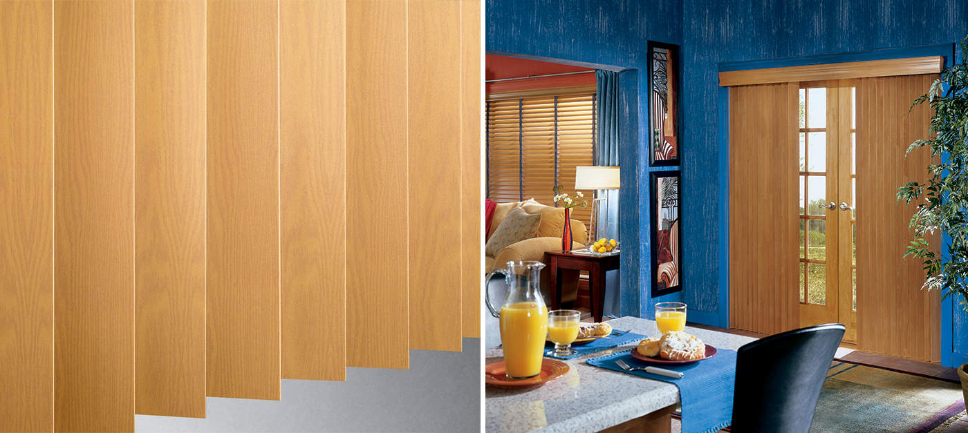 Wood vertical slats means lower maintenance as the dust will not adhere.
