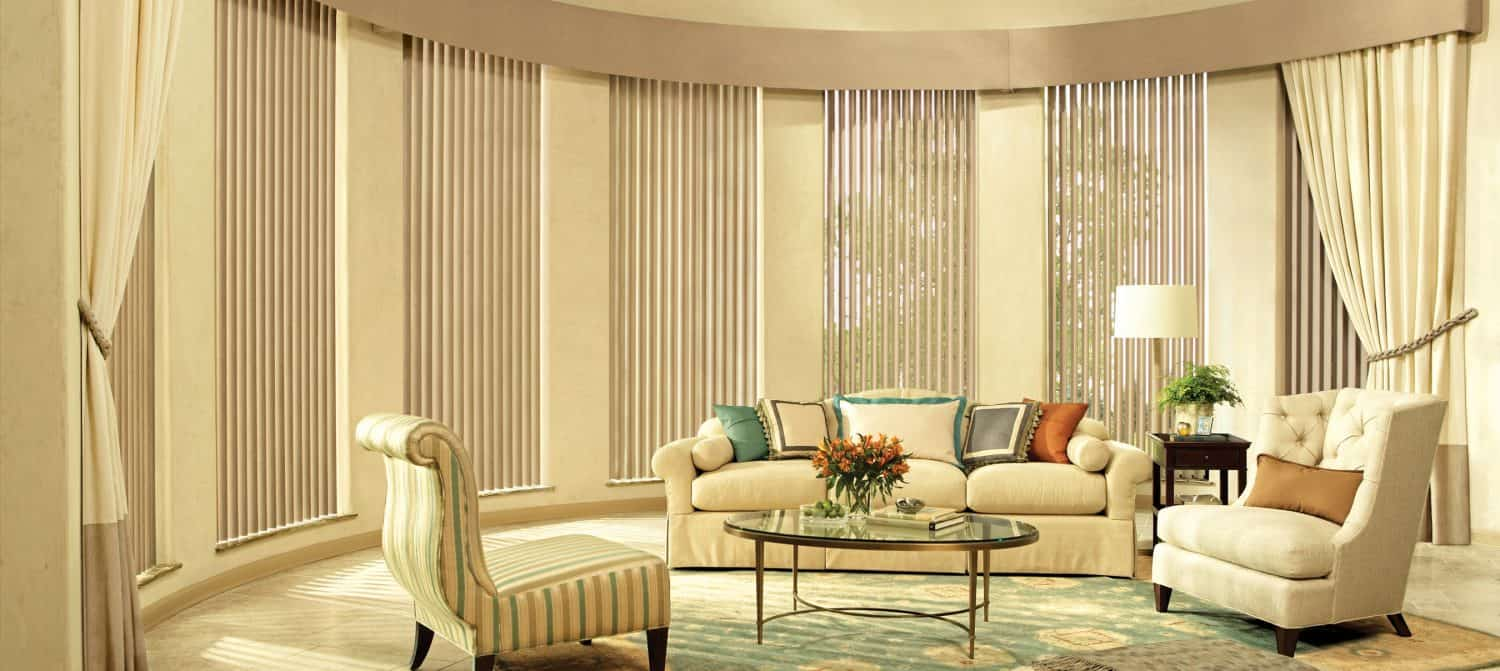 Cadence Vertical Blinds Ruffell Amp Brown Window Fashions