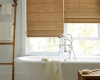 In rooms where privacy is desired, Hunter Douglas Design Studio Roman shades are a good solution.