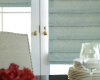 Hunter Douglas Design Studio Roman shades can even be installed on French doors.
