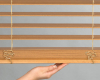 The LiteRise operating system makes these Hunter Douglas Everwood Faux Wood blinds child safe.