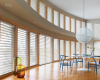 Hunter Douglas Silhouette shadings can be operated by remote control which is a great choice when you have a room full of windows.