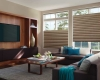 Hunter Douglas Solera Soft shades are available in top down/bottom up configurations.