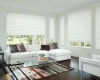 Hunter Douglas Solera Soft shades can be operated by remote control.