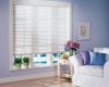 Faux wood blind slats are made of engineered polymer and PVC.