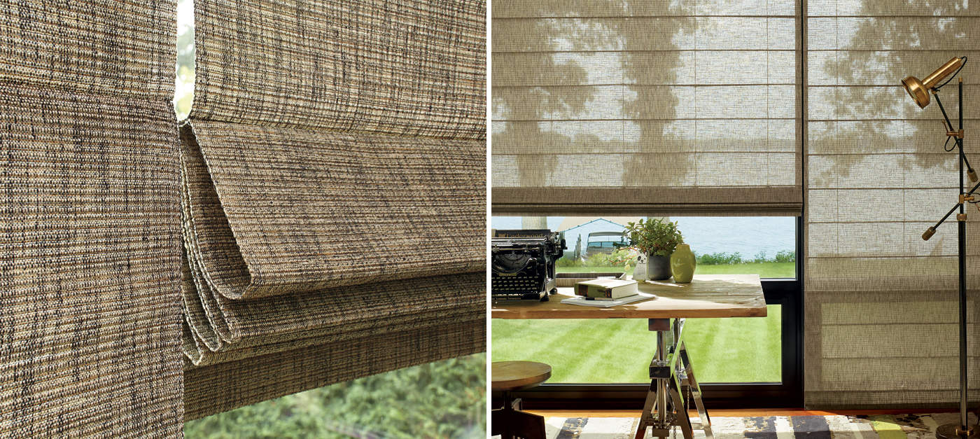 Alustra Woven Textures Ruffell Amp Brown Window Fashions