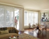 Hunter Douglas Luminette sheers are a fantastic solution for floor to ceiling windows and patio doors.