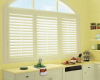 Hunter Douglas Palm Beach polysatin shutters work well in high moisture areas as they are guaranteed never to warp, crack, or fade.