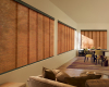 Hunter Douglas Skyline Gliding Window Panels can be mounted inside or outside your window frame depending on the frame depth.