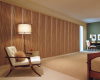 The patterned fabric of these Hunter Douglas Skyline Gliding Window Panels adds drama and life to a room.